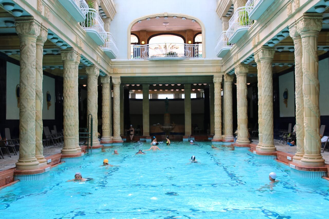 Gellert bath spa Budapest thermal springs