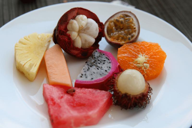 World Travel Adventurers, WorldTravelAdventurers, Park Hyatt Maldives, Hadahaa, Complimentary Breakfast, foodie, food, gourmet, Luxury Travel, Luxury resort, dream vacation, ocean view, tropical fruit