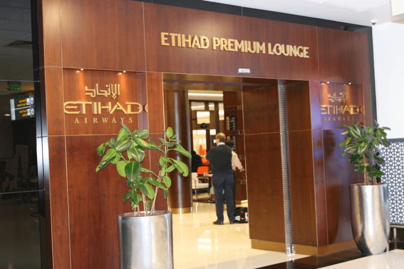 Etihad Premium Lounge in Abu Dhabi is very impressive